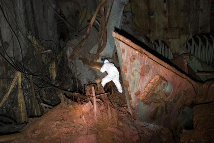 Interior del sarcófago